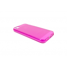 Custodia Flessibile Lucida con Interno Opaco per iPhone 5/5S - Fucsia