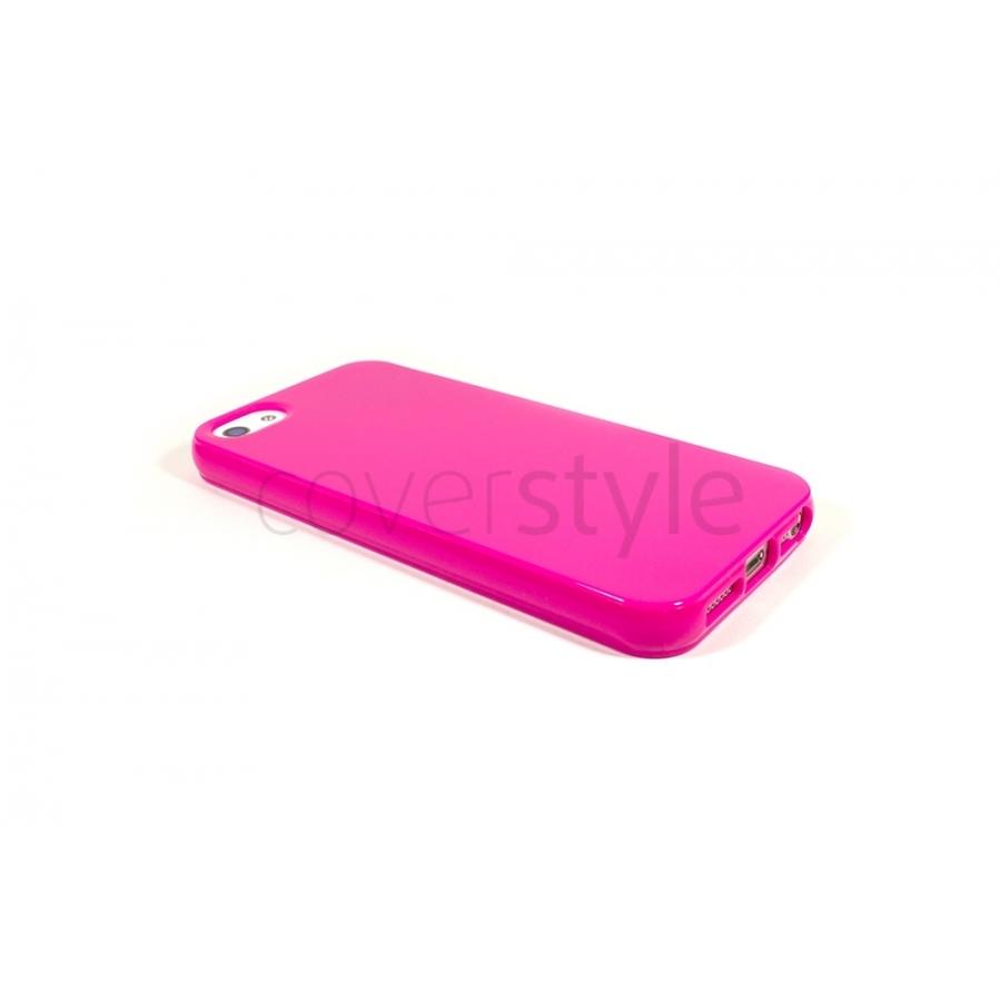 cover ultrasottile iPhone 5 0.3mm rosa custodia trasparente fucsia