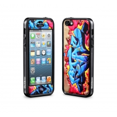 id America - Cushi Plus Graffiti per iPhone 5 - Blu