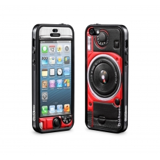 id America - Bumper + Cushi Plus Camera per iPhone 5 - Rosso