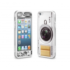 id America - Bumper + Cushi Plus Camera per iPhone 5 - Bianco