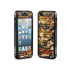 id America - Bumper + Cushi Plus Camo per iPhone 5 - Multi