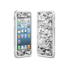 id America - Bumper + Cushi Plus Camo per iPhone 5 - Bianco