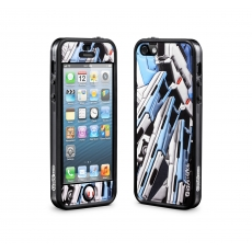 id America - Bumper + Cushi Plus Robotics per iPhone 5 - Bianco