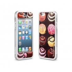 id America - Bumper + Cushi Plus Sweet per iPhone 5 - Choco