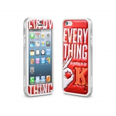 id America - Bumper + Cushi Plus Retro per iPhone 5 - Rosso