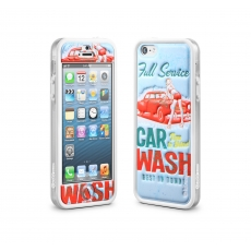 id America - Bumper + Cushi Plus Retro per iPhone 5 - Blu