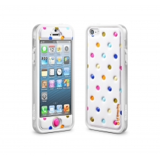 id America - Bumper + Cushi Plus Dot per iPhone 5 - Bianco
