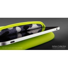 Custodia Reversibile Safara Collection per iPad/iPad 2/3/4 - Verde Neon/Blu Militare