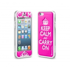 id America - Bumper + Cushi Plus Calm per iPhone 5 - Rosa