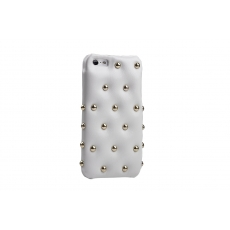 ION factory - Custodia in Pelle Funky Punky per iPhone 5 - Bianco