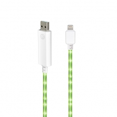 Dexim Visible Green Cavo Lightning Bianco - Luce Verde