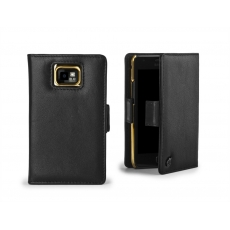 ION factory - Custodia LeatherGrip in Pelle per Galaxy S2 - Nero