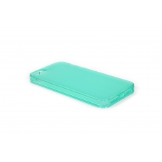 Custodia Dust Matt Anti-Polvere Flessibile Trasparente per iPhone 5/5S - Turchese