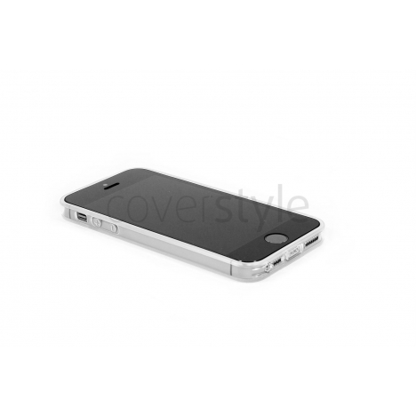 Custodia Ultra Sottile Flessibile Trasparente Anti-Polvere per iPhone 5/5S