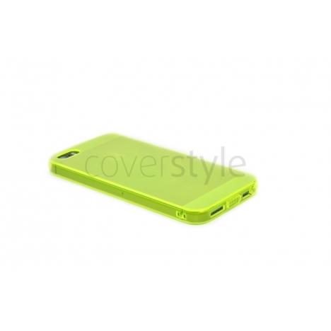 Custodia Ultra Sottile Flessibile Trasparente Anti-Polvere per iPhone 5/5S - Giallo