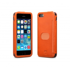 id America - Custodia Wall St. in Pelle per iPhone 5/5S - Arancione