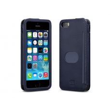 id America - Custodia Wall St. in Pelle per iPhone 5/5S - Blu