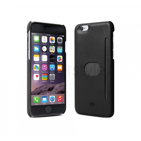 "id America - Wall St. Custodia in Pelle per iPhone 6 Plus (5.5"") - Nero"
