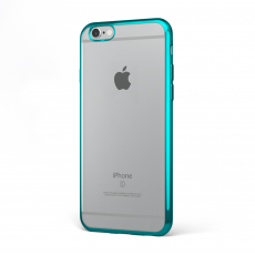 "CoverStyle® - Custodia ChromFlex Flessibile + Bordo Cromato per iPhone 6/6S (4.7"") - Blu"