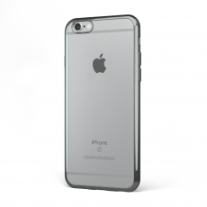 "CoverStyle® - Custodia ChromFlex Flessibile + Bordo Cromato per iPhone 6/6S (4.7"") - Grigio"