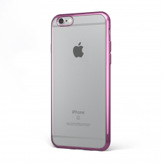 "CoverStyle® - Custodia ChromFlex Flessibile + Bordo Cromato per iPhone 6/6S (4.7"") - Rosa"