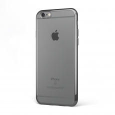 "CoverStyle® - Custodia ChromFlex Flessibile + Bordo Cromato per iPhone 6/6S Plus (5.5"") - Grigio"