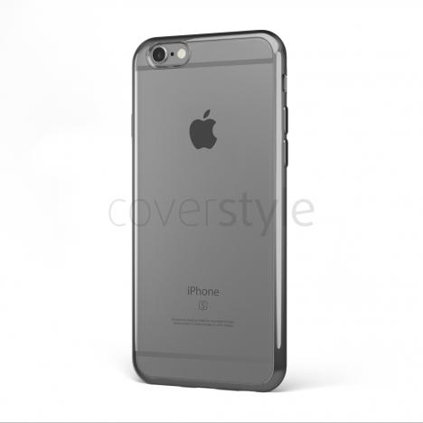 """CoverStyle® - Custodia ChromFlex Flessibile + Bordo Cromato per iPhone 6/6S Plus (5.5"""") - Grigio"""