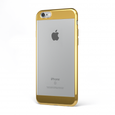 "CoverStyle® - Custodia ChromFlex S Flessibile + Bordo e Bande Cromate per iPhone 6/6S (4.7"") - Oro"