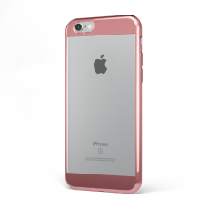 "CoverStyle® - Custodia ChromFlex S Flessibile + Bordo e Bande Cromate per iPhone 6/6S (4.7"") - Oro Rosa"