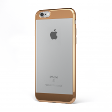 "CoverStyle® - Custodia ChromFlex S Flessibile + Bordo e Bande Cromate per iPhone 6/6S (4.7"") - Bronzo"