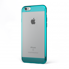 "CoverStyle® - Custodia ChromFlex S Flessibile + Bordo e Bande Cromate per iPhone 6/6S (4.7"") - Blu"