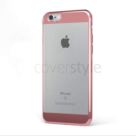 "CoverStyle® - Custodia ChromFlex S Flessibile + Bordo e Bande Cromate per iPhone 6/6S Plus (5.5"") - Oro Rosa"