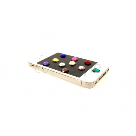Tasto Home Diamante per iPhone e iPad - 10 Colori