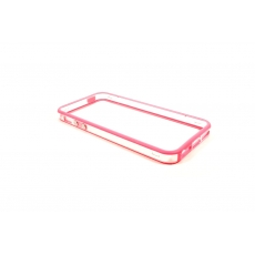Bumper Bicolore Rosa/Trasparente per iPhone 5 - Serie Advanced
