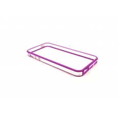 Bumper Bicolore Viola/Trasparente per iPhone 5 - Serie Advanced